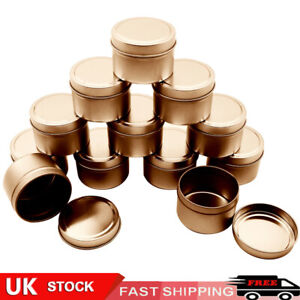 16pcs Candle Making Tins Empty Storage Jars with Screw Lids Gift UK STOCK