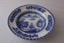 Antique Flow Blue Ridgeway Canton Pattern 10 3/4 Inch Bowl