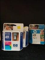 Lot of 3 HP Inkjet Print Cartridge 49 Tri-Color hp 51649n / 11 ml.