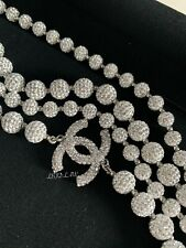 CHANEL Bubble Strass Crystal Ball Long Necklace 18S 2018 Spr Summer Multi-Strand