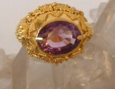 22kt Solid Gold Ring Artisan One of a Kind Gorgeous Intricate w/ Amy Museum Qual