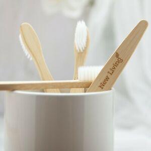 Biodegradable Plant Bristles Bamboo Toothbrushes | 4 Pack | Medium/Soft
