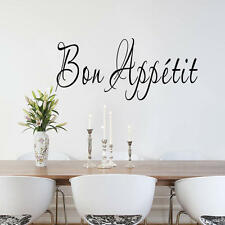 Bon Appetit Quote France Home Dining Room Kitchen Waterproof Vinyl Wall Sticker