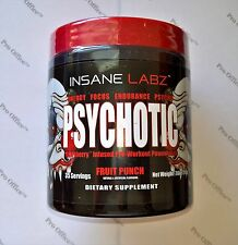 INSANE LABZ PSYCHOTIC PRE WORKOUT 35 Servings. FREE SHIPPING!!!!