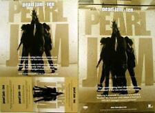 PEARL JAM 2009 ten double sided remastered promo poster ~MINT~NEW old stock~!!
