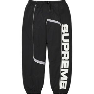 Supreme 21FW S Paneled Belted Track Pant Black Size M