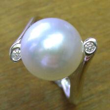 Anelli di lusso con perle oro bianchi diamante