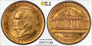 1916 PCGS & CAC MS66 McKinley Gold Dollar $1