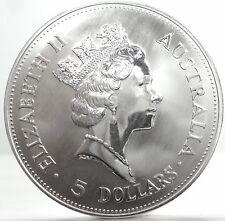 AUSTRALIA-Kookaburra (Elisabetta II) 5 $ Dollars 1990
