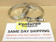 T-BOLT HOSE CLAMP HD STAINLESS STEEL 3 INCH CLAMP LOT OF 2