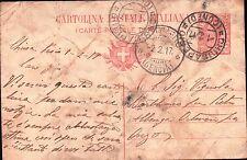1917 CARTOLINA POSTALE ITALIANA 10 CENT. DA CHIUSA PESIO X ONZO SV C5-861