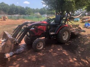 2017 Yanmar 424 compact tractor 4x4 with loader and finish mower.