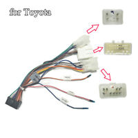 Car Stereo 20 PIN Wiring Harness Connector Adapter 1Din/2 Din Android for Toyota
