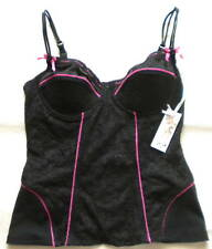 NWT PLAYBOY BUNNY BLACK LACE CORSET BUSTIER 36B $42