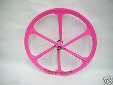 Pink Fixed Gear Mag Wheel by TENY RIMS. 26 x 1.25. Fixie bike. Bicycle.