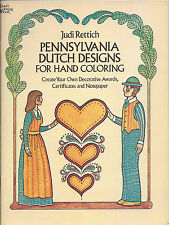 Pennsylvania Dutch Designs for Hand Coloring by Judi Rettich