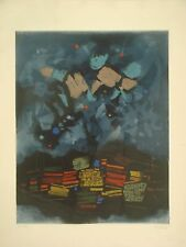 ARDON MORDECAI Original S&N ETCHING Israeli ABSTRACT, signed, from dealer,rare