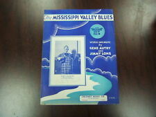 Mississippi Valley Blues words & music Autry & Long