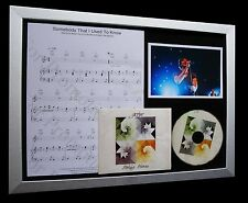 GOTYE Somebody That I Used To Know LTD MUSIC FRAMED DISPLAY+EXPRESS GLOBAL SHIP!