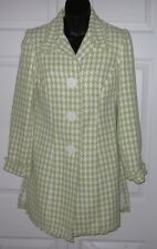 Hobo Chic Wms Green /White Coat 6 *Sharp Must C*