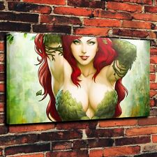 "Art Quality Canvas Print Oil Painting Poison Ivy Dc Comics Woman A4196,16""x28"""