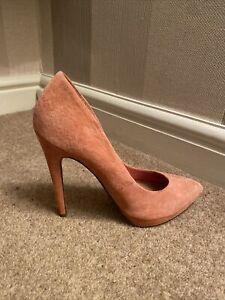 ASOS Peach / Pink Suede Leather Stilettos Size 8 BN