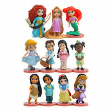 11pcs Disney Princess Figures Set Figurine Toy Display Cake Topper Kids Gift 8CM