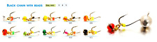 2pcs. Tungsten ICE FISHING From SHARK Chain with Beads Silver Jig Heads #8235