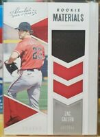 2020 Panini Absolute Zac Gallen Rookie Materials Relic. Black Jersey RC