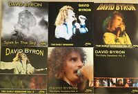 DAVID BYRON of URIAH HEEP EARLY SESSIONS Volumes 1 - 5 + SPIRIT IN THE SKY  NEW