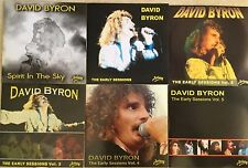 DAVID BYRON ex URIAH HEEP EARLY SESSIONS Volumes 1 - 5 + SPIRIT IN THE SKY  NEW