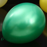 "Original Belbal Dark Green Metallic 12"" Latex Balloons Birthday Wedding Party UK"