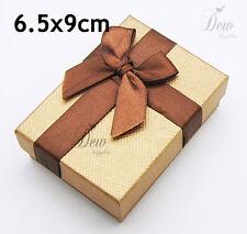 12 x Jewellery Set gift Boxes Brown craft card board brown display box
