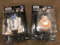 Tomy - Star Wars Figure Toys - BB8 & R2D2 - Motion & Sound - Genuine Japan -BNIB