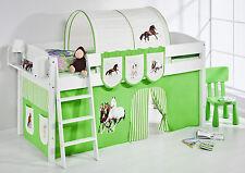 Lit mezzanine de lit Lit d'enfant 4105 enfants Lilo cheval vert rayures