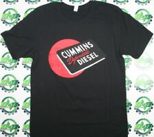 Cummins dodge t shirt red ball logo short sleeve gear distressed black  3XL