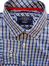 Charles Tyrwhitt Men's Check Cotton Single Cuff Formal Shirts