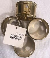 Napkins Rings Set Of 4 Brass By Kemp & Beatley Cut Out Trees Never Used
