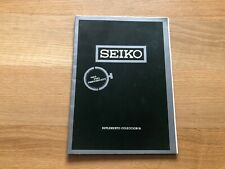 Vintage Catalogue Catálogo SEIKO - Suplemento Colección 81 - Relojes - Español