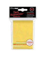 ULTRA PRO YELLOW Deck Protector Card Sleeves Magic Pokemon Standard 50 Sleeves
