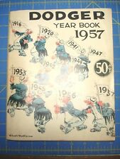 1957 BROOKLYN DODGERS BASEBALL YEARBOOK PROGRAM LAST YEAR IN BROOKLYN KOFAX