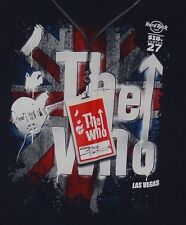 THE WHO Hard Rock Cafe Las Vegas Sig Series 27  T-Shirt Size M Tour Concert Blue