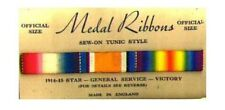 circa WW1 British made Service Tunic Three Ribbon set.