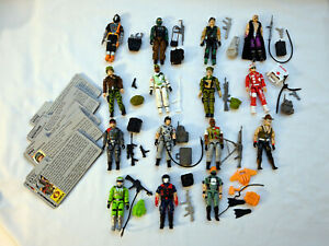Vintage GI Joe 1986 Figures Lot w/ file cards - only 1 accessory missing!