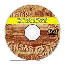 Missouri MO Civil War, Family Tree History Genealogy 121 Rare Books DVD CD B23