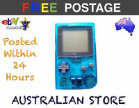 Refurbished Game Boy Pocket GBP Handheld Console Clear Blue Gameboy Toy Retro
