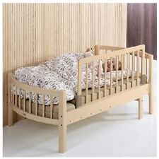 BabyDan Childrens Wooden Bed Rail Deluxe Safety Toddler Guard Natural