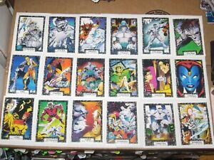 1991 THE INCREDIBLE HULK COMIC IMAGES COMPLETE BASE 90 CARD SET MARVEL WOLVERINE