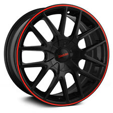 "16"" Touren TR60 Black Red Wheels Rims 5x4.5 5x100 5 Lug Honda Toyota Mazda VW"