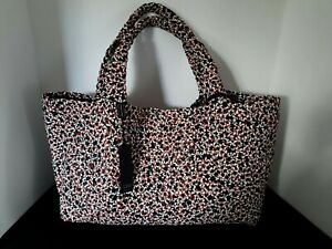 NWT FALOR WOVEN LEATHER TOTE HANDBAG & CLUTCH MADE IN ITALY BLACK RED WHITE
